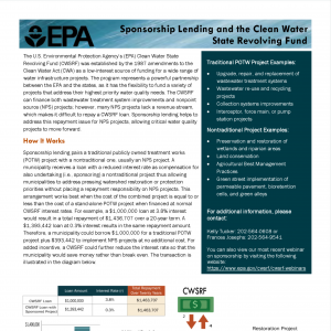 Sponsorship Lending and the CWSRF – EPA thumbnail
