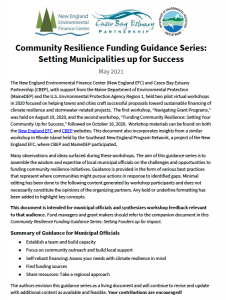Community Resilience Funding Guidance Series: Setting Municipalities up for Success cover